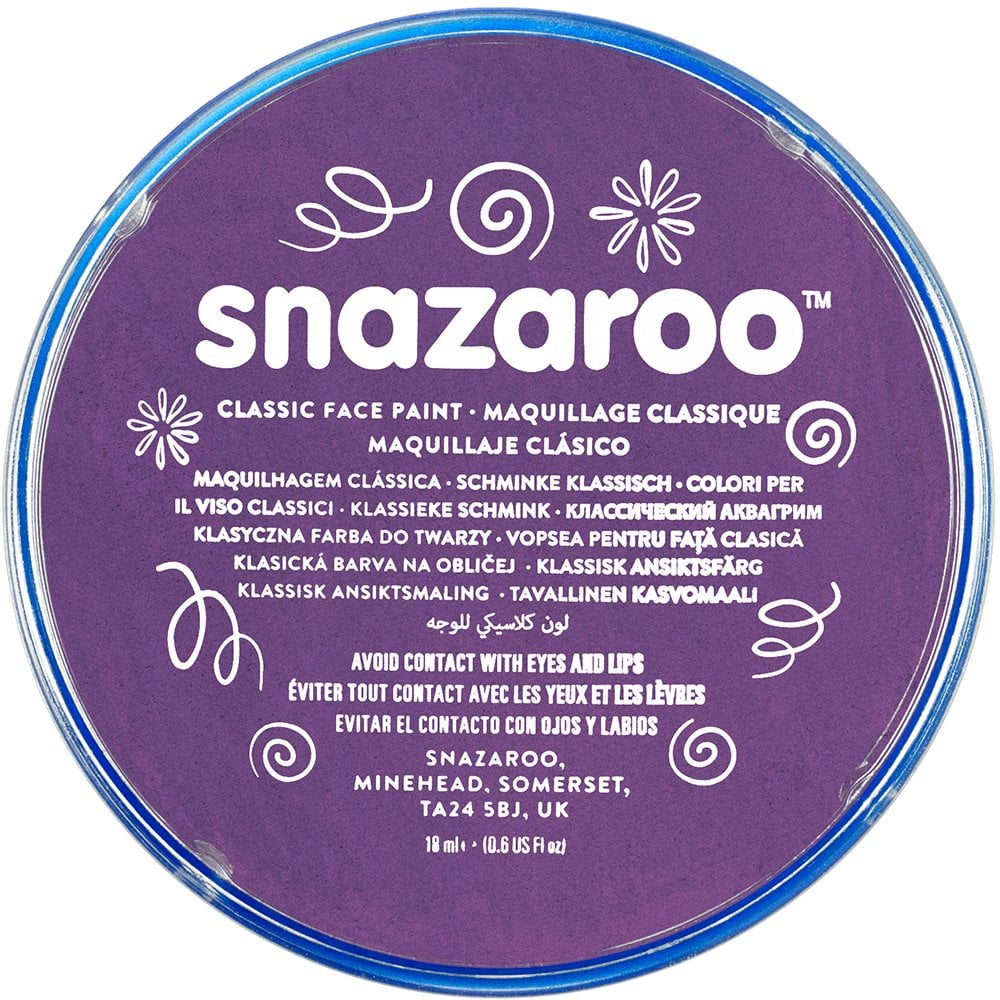Snazaroo Metallic Colours Electric Purple Paint 18ml