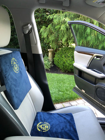 Cushion Set Creates Ergonomic Automobile Seat for Lower Back Pain and Neck Pain