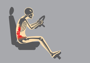 Poor posture while driving causes lower back pain.