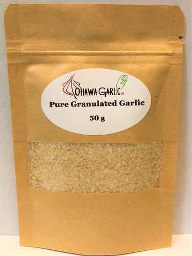 Pure Granulated Garlic - 50g Pouch