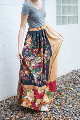 Earl Gray Paisley Tea Time Ginger Maxi Dress