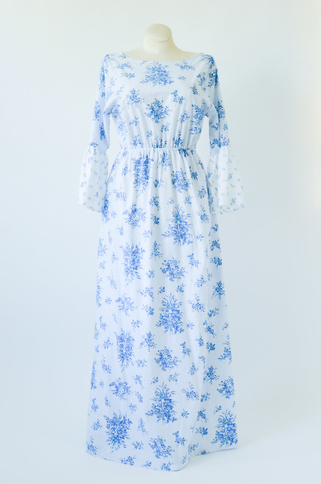 The Emma Dress in Blue Tea Time