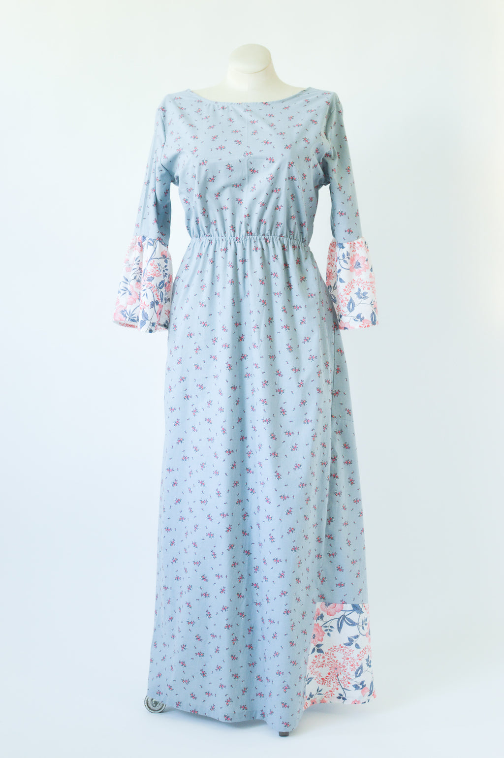 The Emma Dress in Dusk Blue Garden