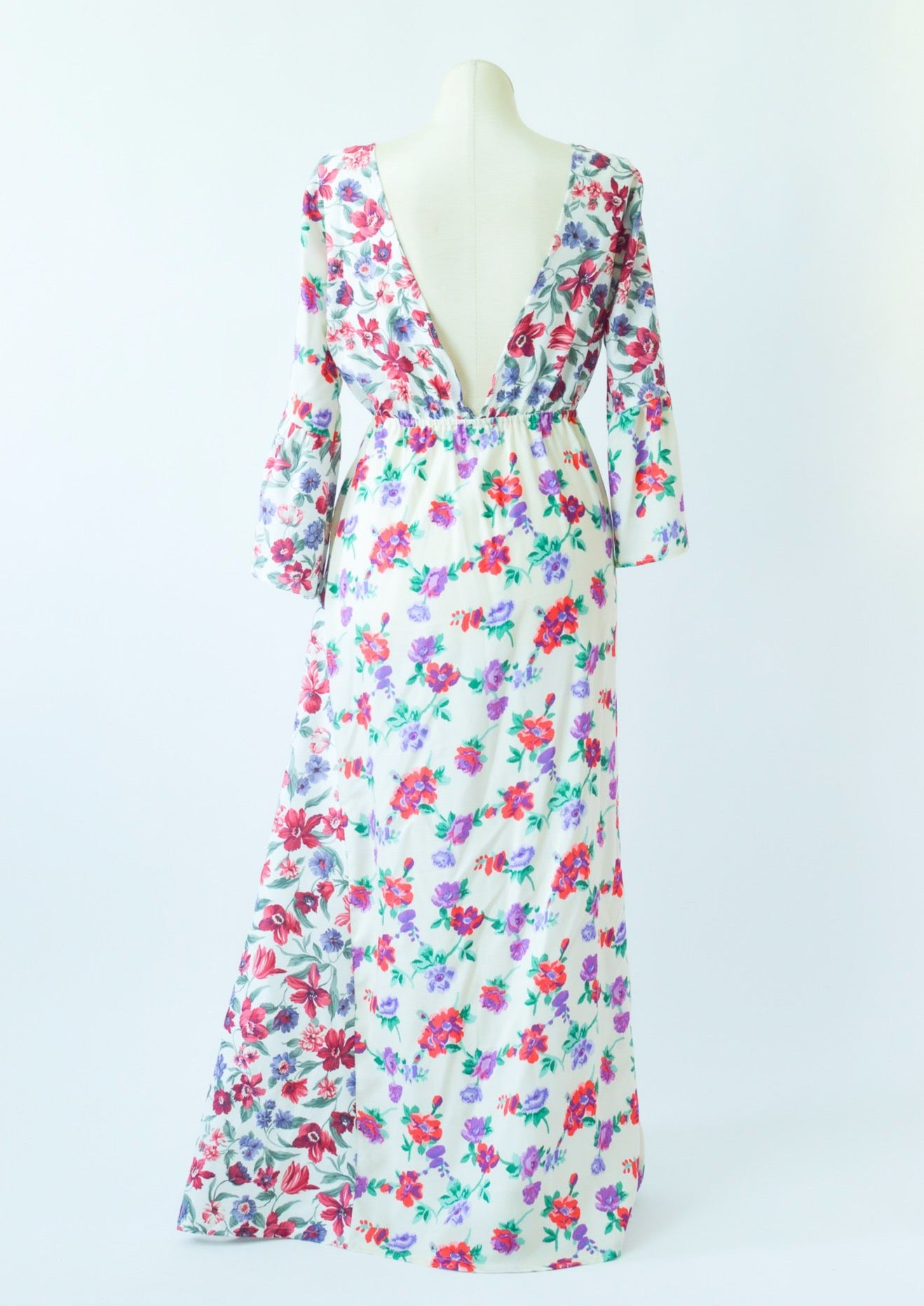 The Emma Dress in Pink Floral Garden
