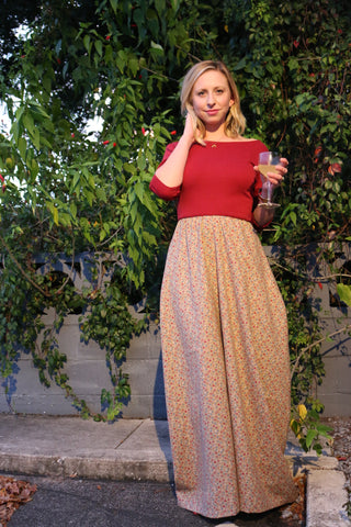 Red Lips and High Tea Ginger Maxi Dress
