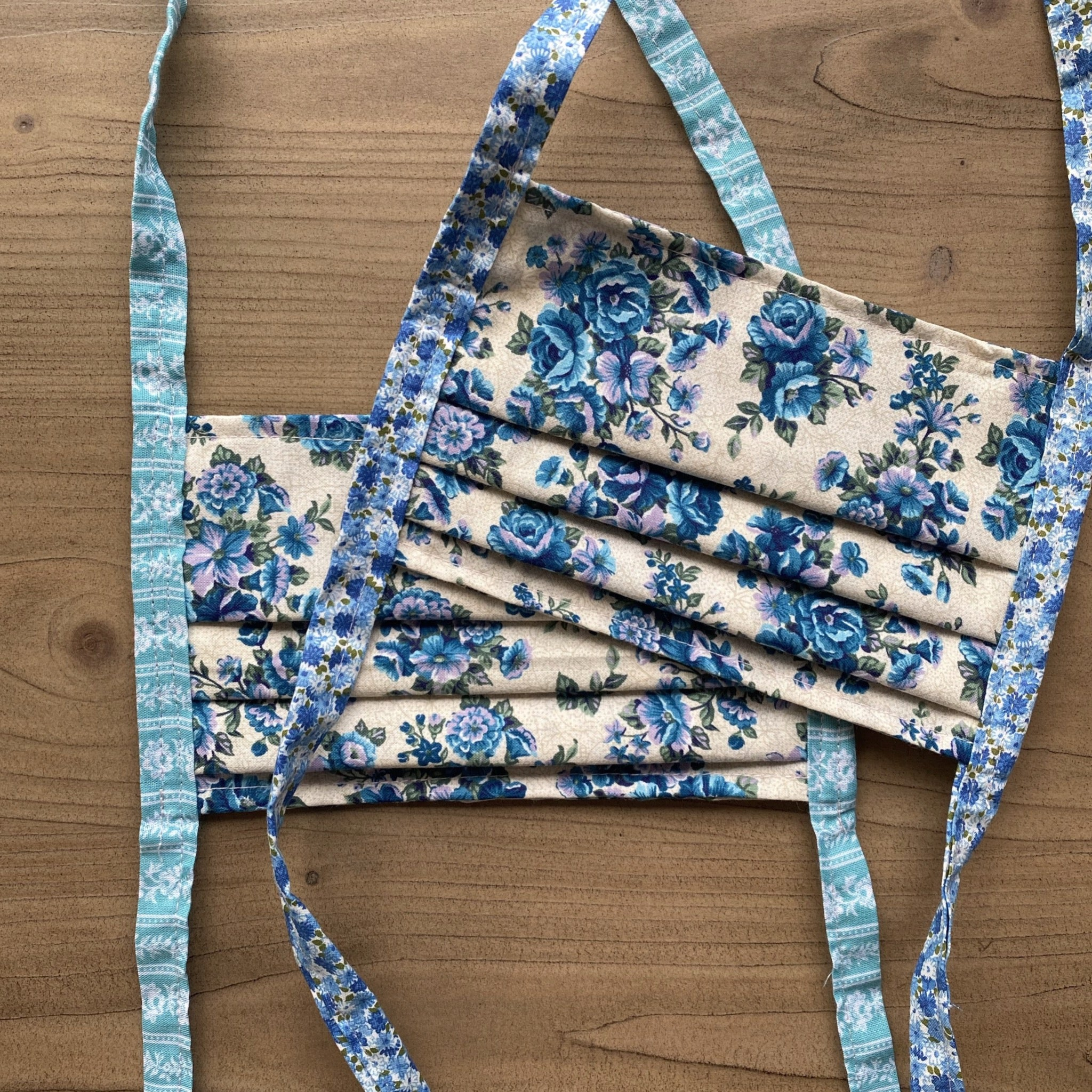 TJF Mask - BLUE Floral [ 3 PACK ]