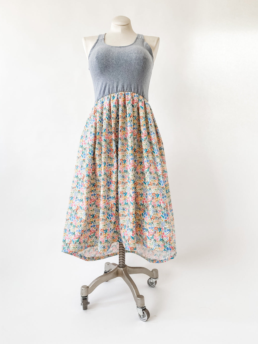 Together Dress in Floral Garden with Train - made with Rifle Paper Co Fabric