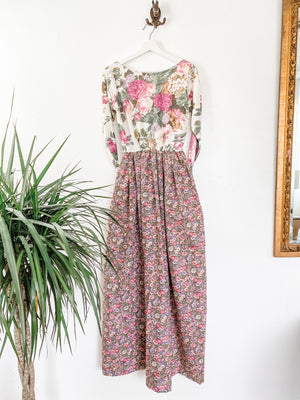 Together Maxi Dress in Purple Floral English Garden