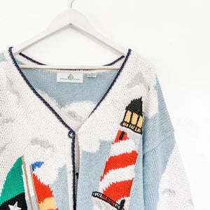 Fabulous Vintage Sailor Cardigan Sweater