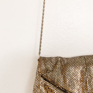 Beautiful metallic gold vintage metal handbag