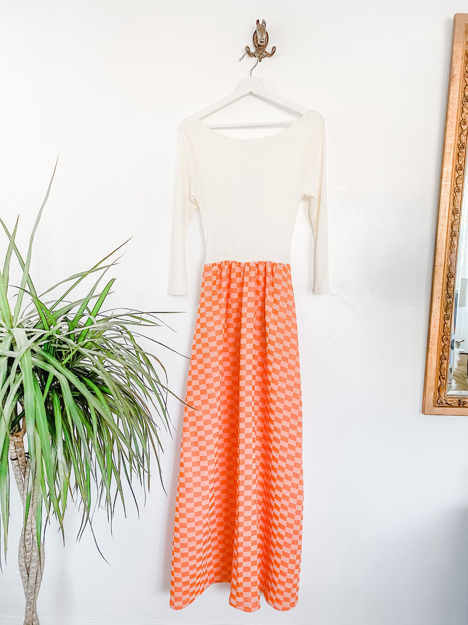 Together Dress in Vintage Orange with pockets