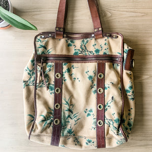 Beautiful Lucky Brand Large Canvas Tote Bag