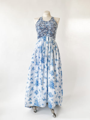Together Dress in English Garden Blue with Train