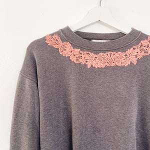 Vintage TJF Embellished Sweatshirt Faded Black