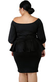 Dayo - Plus Size Off Shoulder Peplum Dress