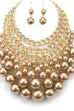 Lane - Pearl Bib Necklace Set