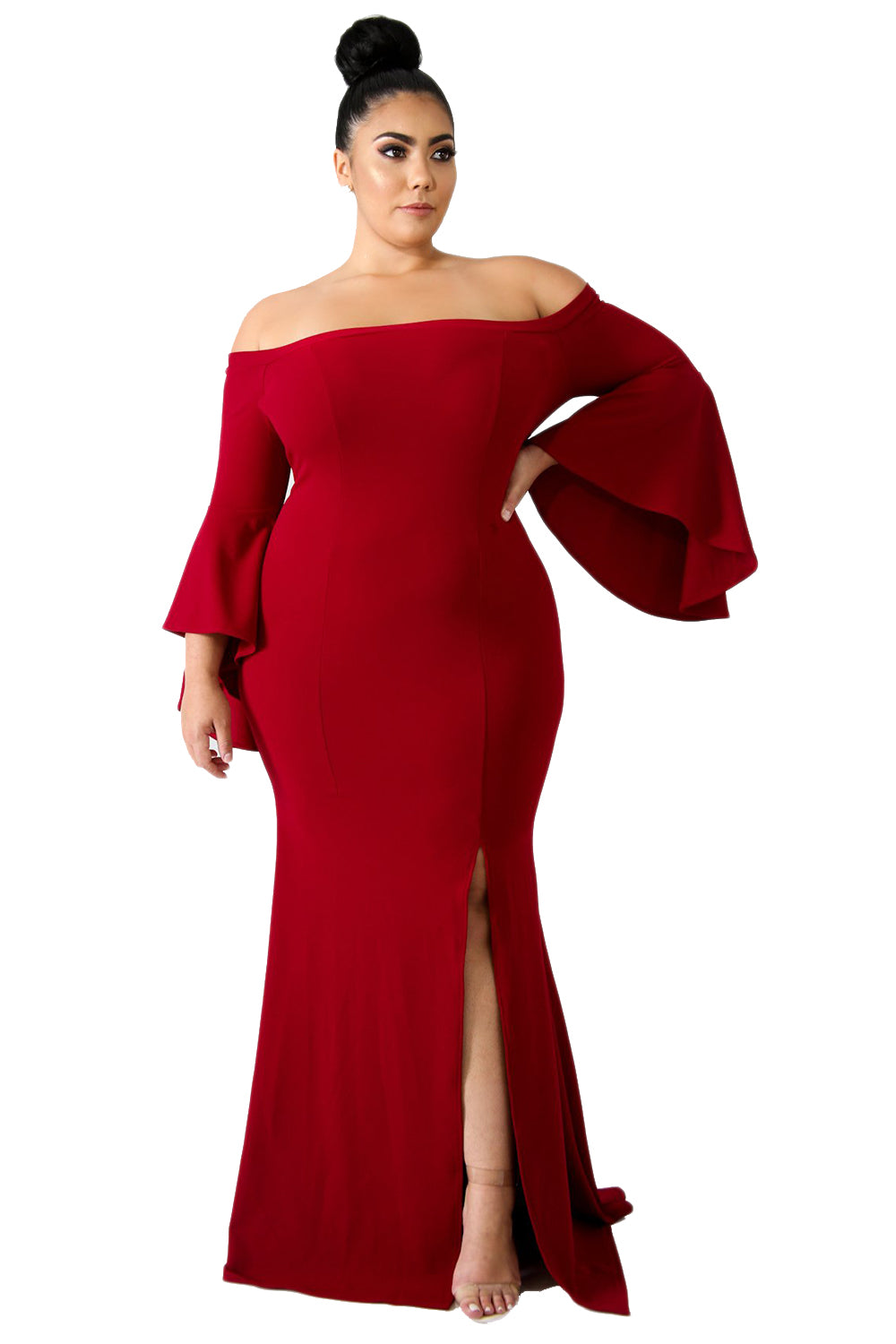 df3a5d23183 Ariel - Plus Size Off Shoulder Mermaid Dress – Diva Lux Clothing