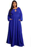 Iris - Split Long Sleeve Plus Size Maxi Dress