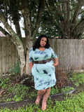 Dolly - Plus Size Tie Dye Tunic Dress