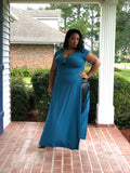 Lisa Lisa - Plus Size Two Slit Maxi Top