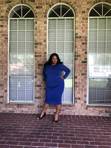 Roo Blu Plus Size Body Con Dress