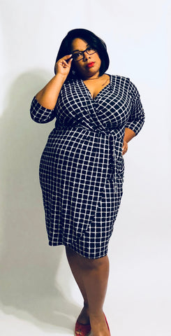 Diane - Faux Wrap Dress