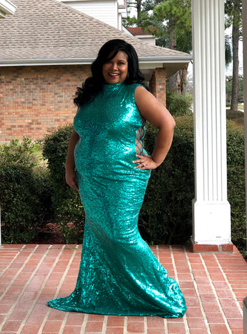 Desire - Plus Size Sequin Maxi Dress