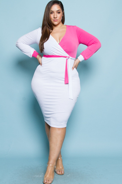 Keisha - Plus Size Wrap Dress