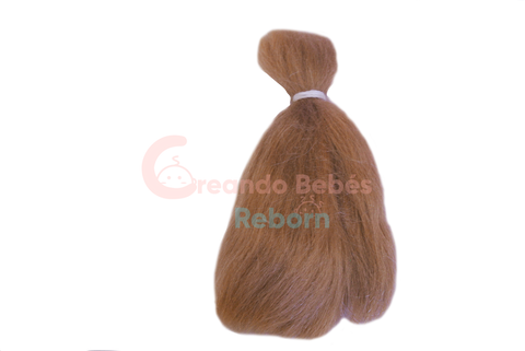 Mohair RubyRed Light Brown, liso. BD0008SP