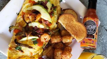 BASS (Bacon, Avocado, Spinach & Shrimp) Omelet