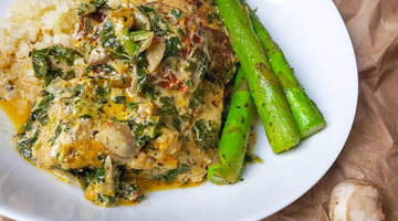 PAN SEARED SNAPPER WITH SUN-DRIED TOMATO CREAM SAUCE