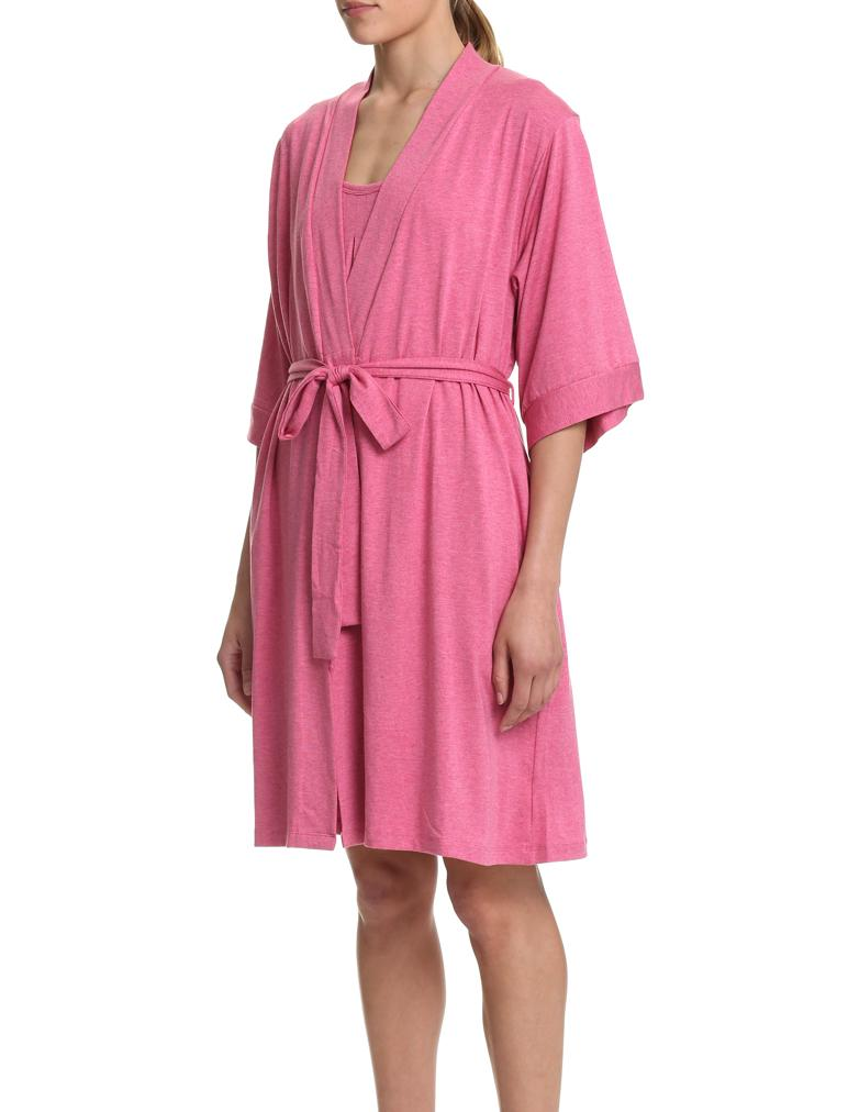 Modal Summer Robe In Raspberry Pink
