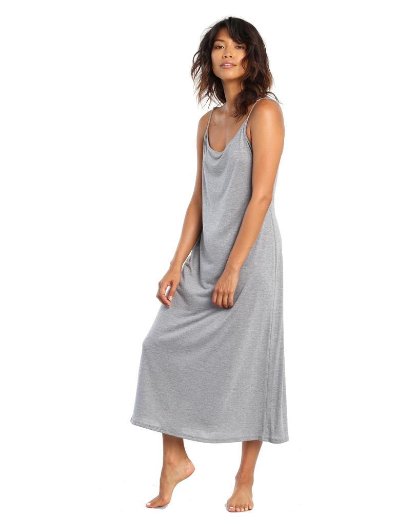 Basic Maxi Nightie Grey