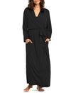 Basic Black Maxi Robe