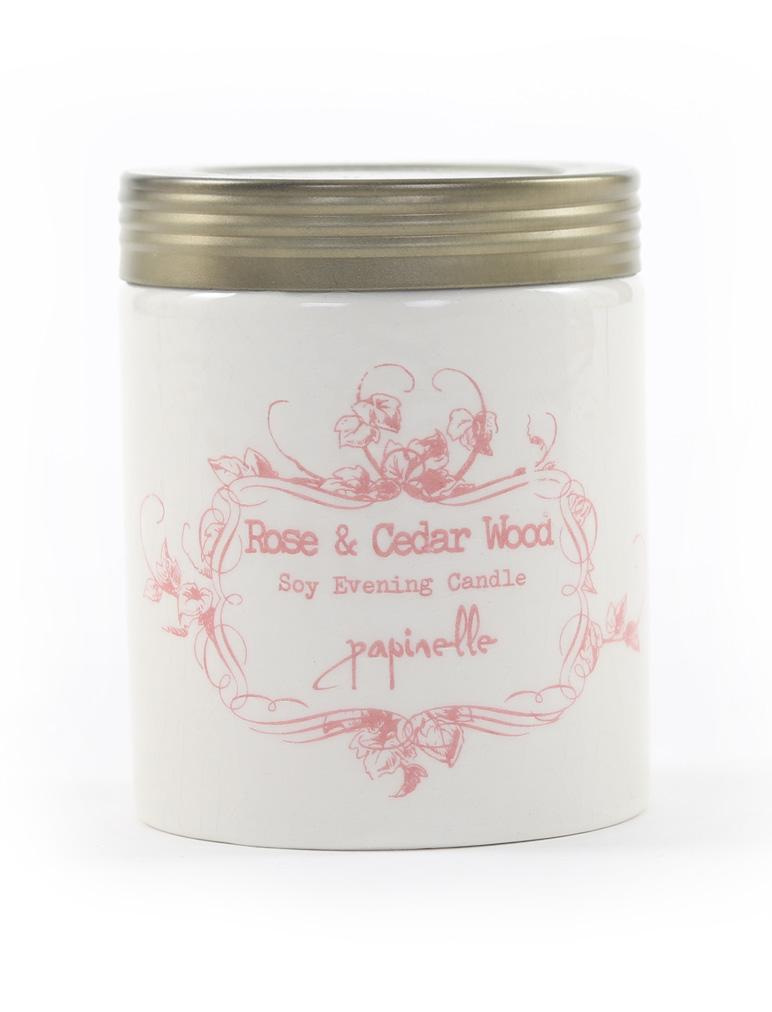 Candle Soy Rose and Cedarwood