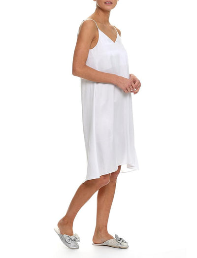 Washable Silk Slip Nightie in Dove Grey