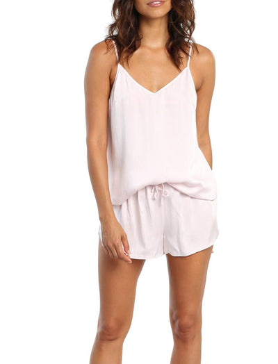 Pure Silk Cami & Short Set Pink
