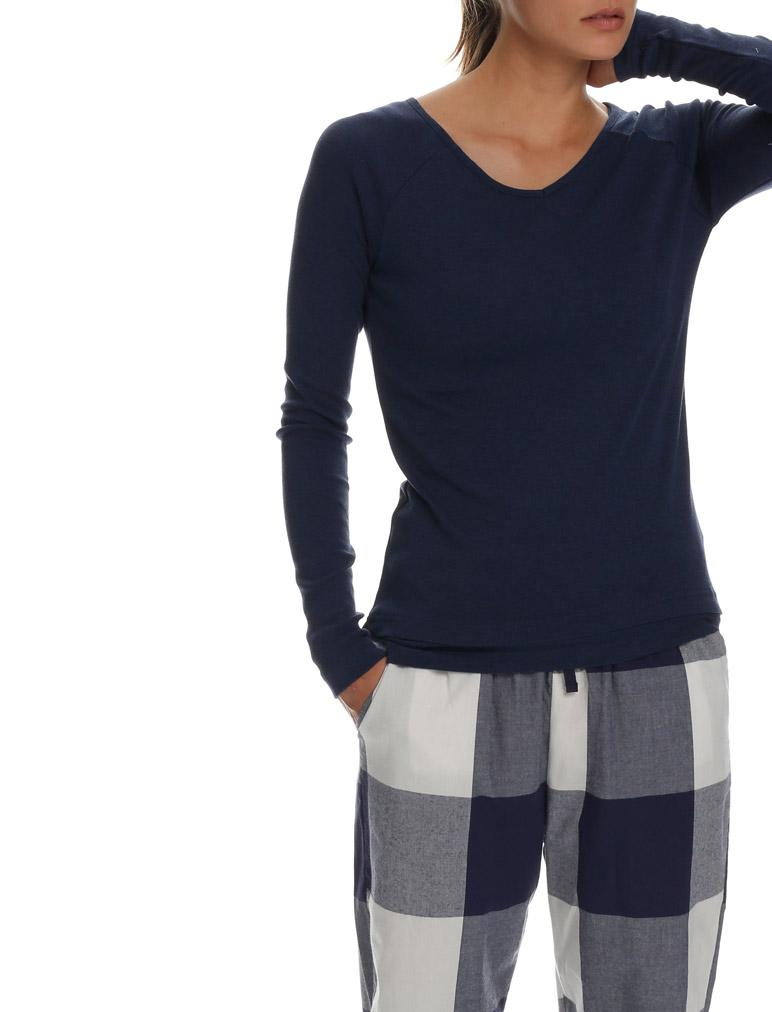 Cotton Modal Raglan in Navy