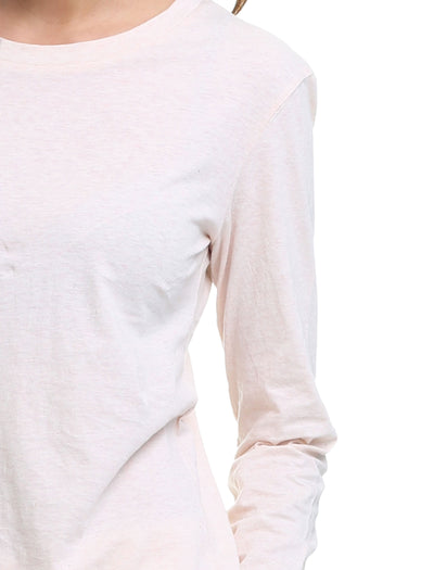 Cotton Long Sleeve Top, Soft Pink