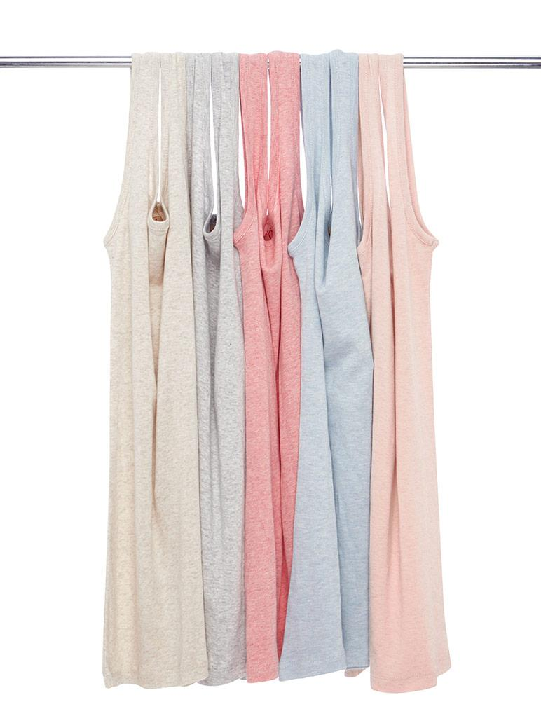 Basic Cotton Modal Singlet in Peach Blush