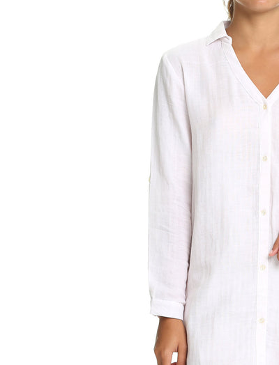 Organic Cotton Soft Blush Boyfriend Shirt