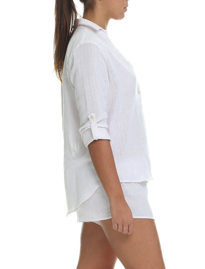 Organic Cotton Soft Blush PJ Top