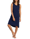 Basic Navy Long Knit Nightie