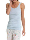 Basic Cotton Modal Singlet in Ice Blue