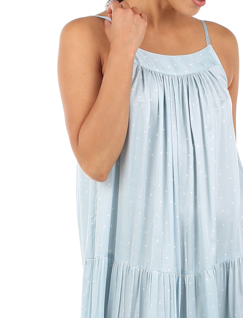 Blue Spot Luxe Tiered Midi Nightie