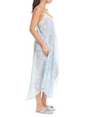 Cherry Blossom Blue Maxi Nightie