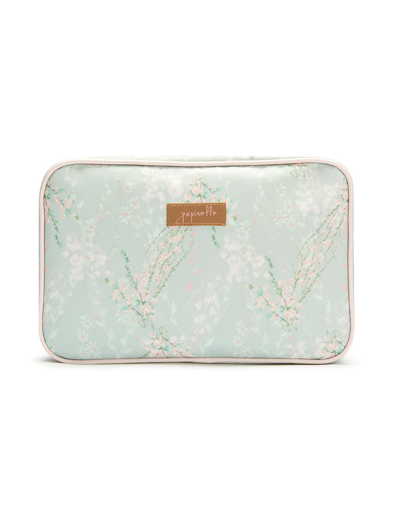 Falling Blossom Sage Large Fold Out Cosmetic Bag