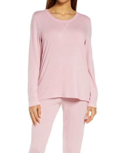 Feather Soft LS Top, Peony Pink