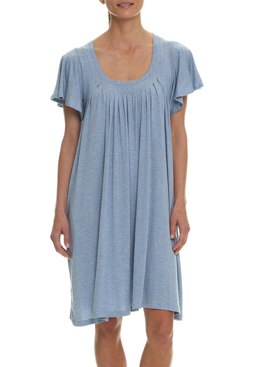Modal Flutter Nightie, Powder Blue