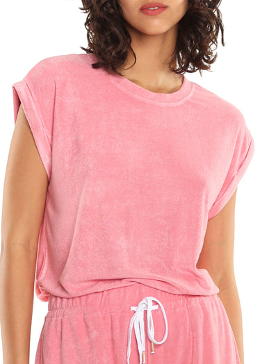 French Terry Tee in Pink